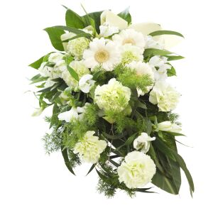 To your bright memory -funeral bouquet