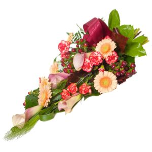 Colourful memories -funeral bouquet